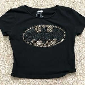 Tops - batman glam crop top